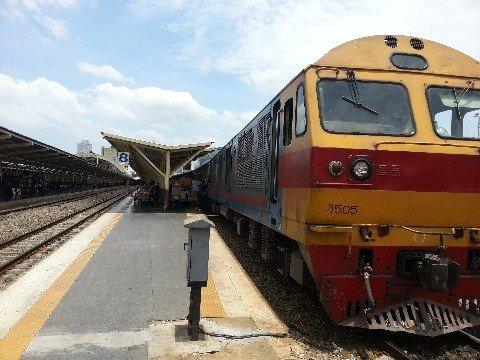 Train at Hua Lamphong Train Station in Bangkok