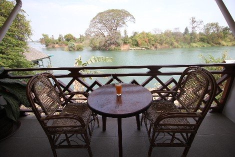 Relaxing views of the Mekong River at Don Det