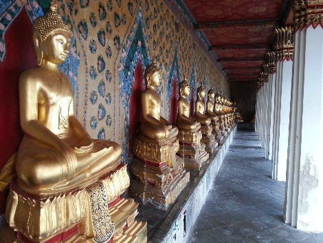 Gold Buddha statues at Wat Arun