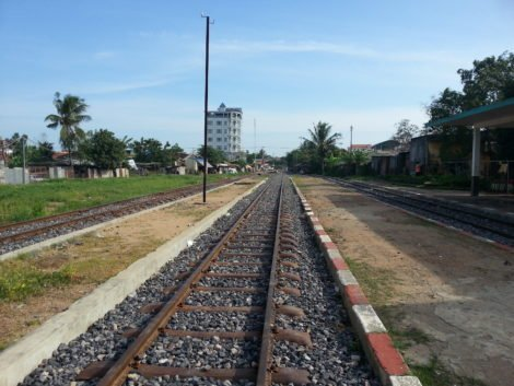Three platforms at Battambang Railway Station