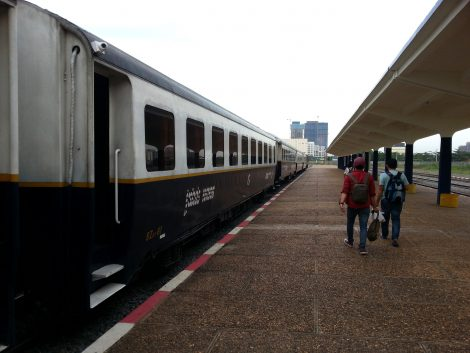 Train to Sihanoukville at Phnom Penh Railway Station