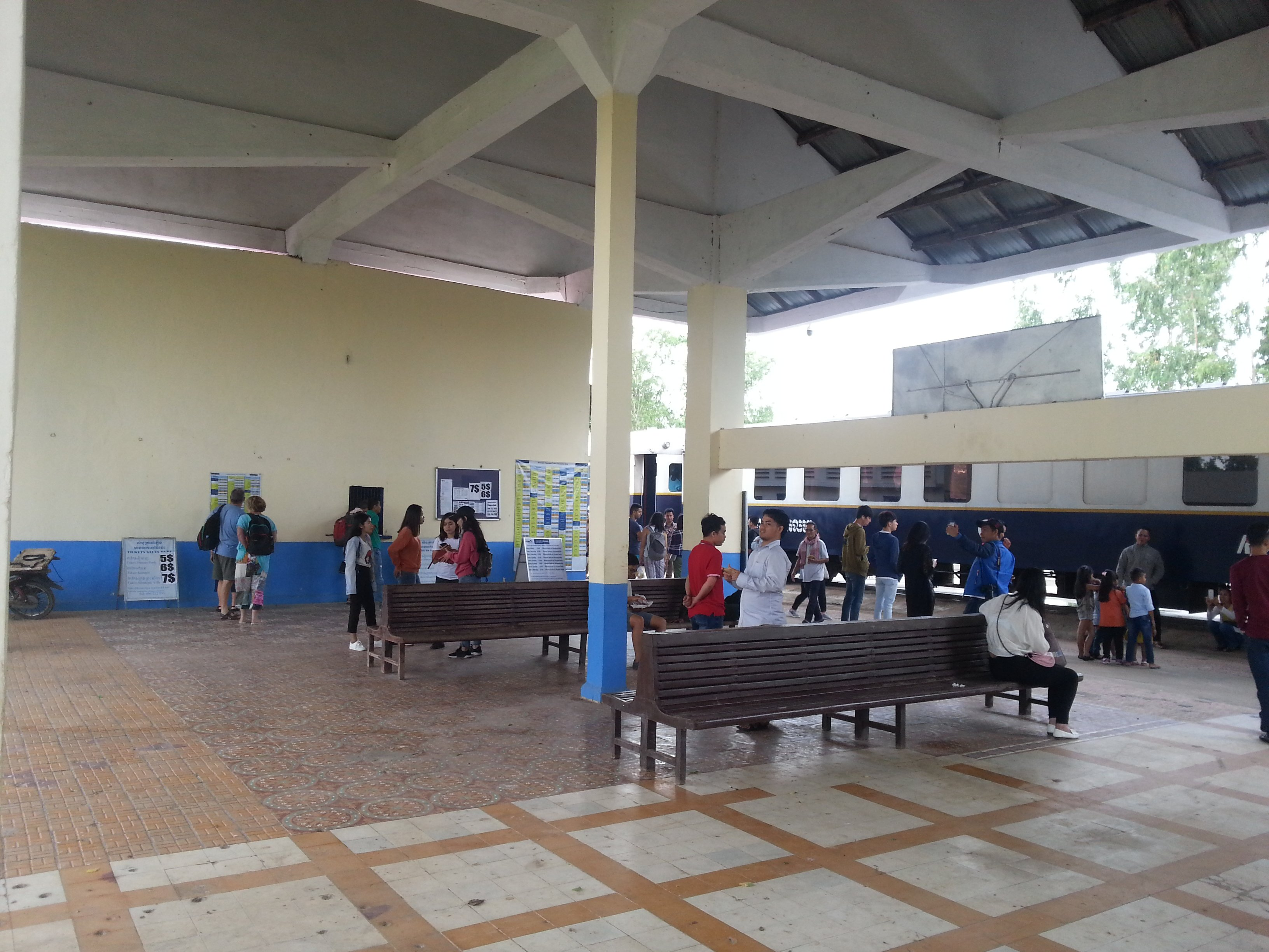 Waiting area at Takeo Railway Station