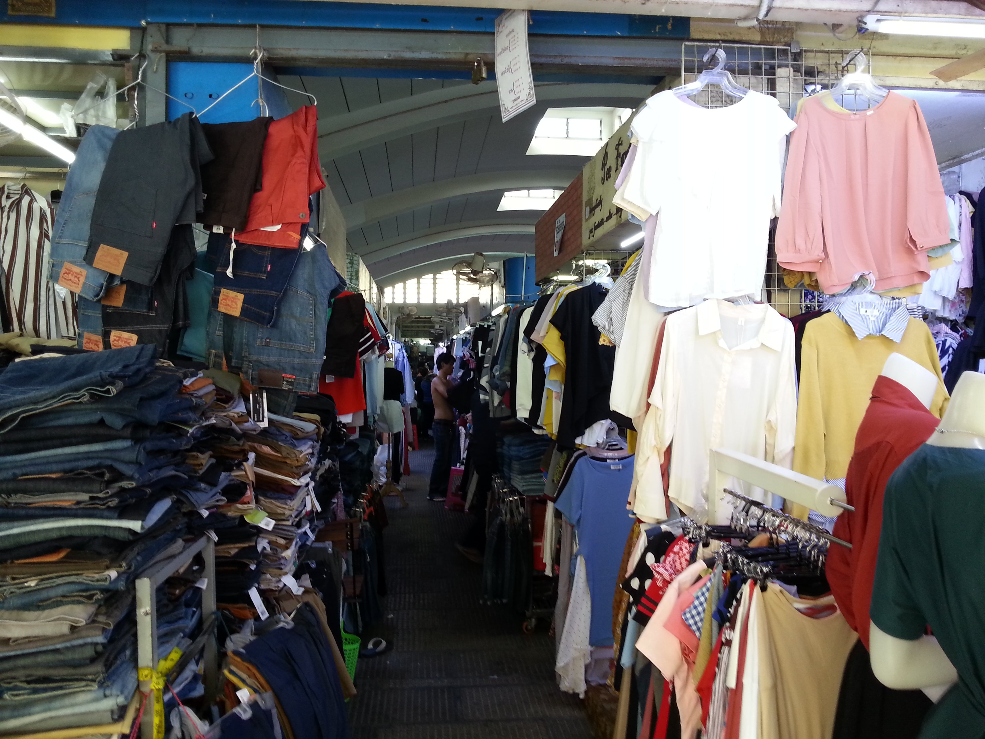 Clothes on sale in Central Market