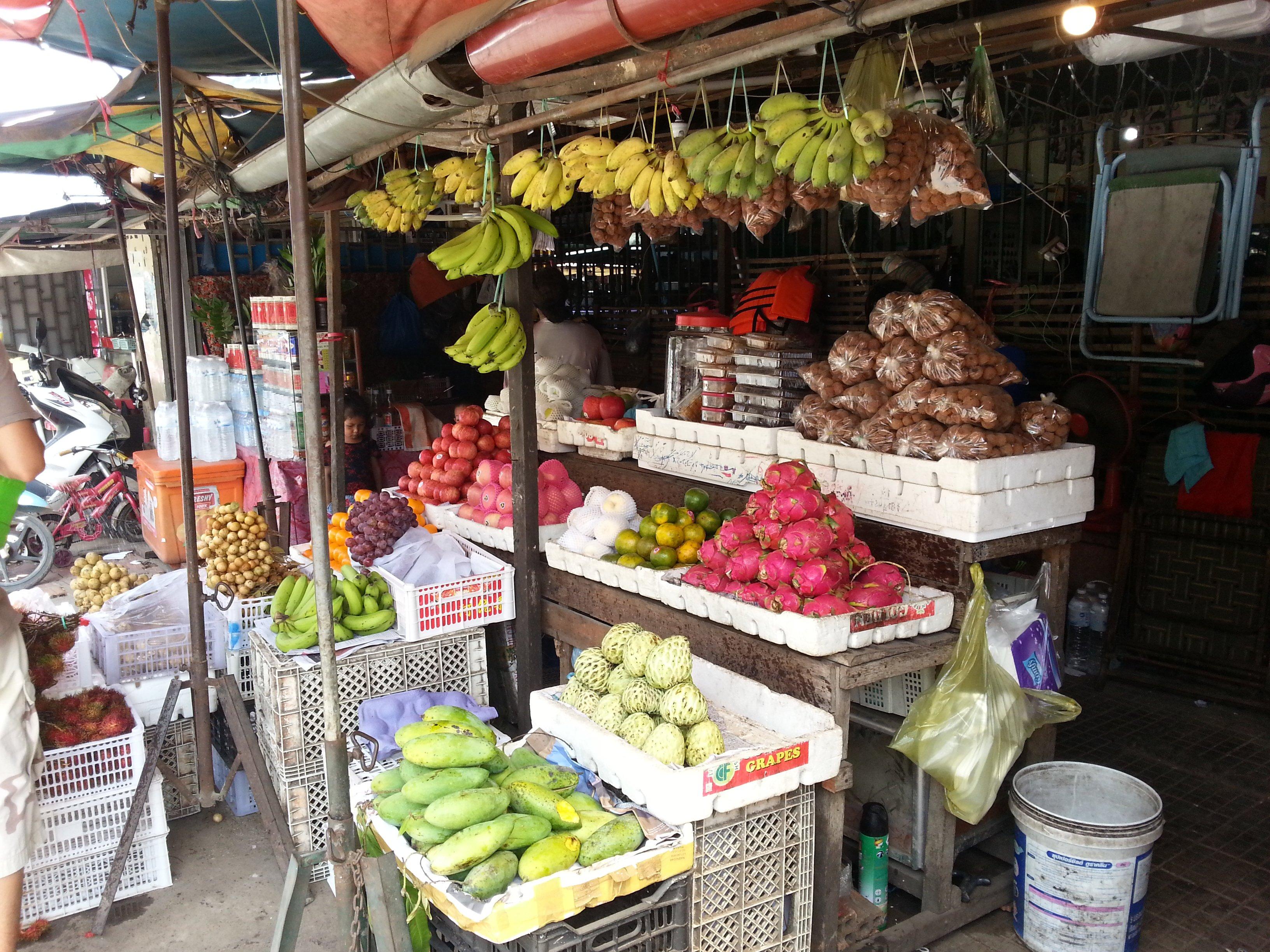 Fruit on sale at Battamabang Central Market