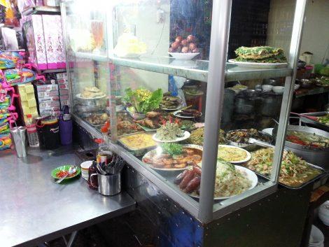 Ground floor food stall in Orussey Market