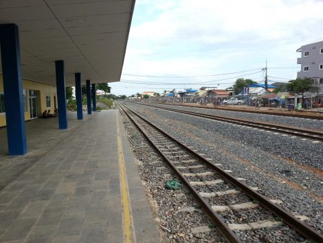 Main platform at Poipet Train Station