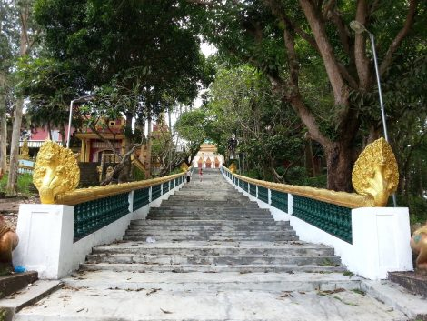 Naga staircase to Wat Leu
