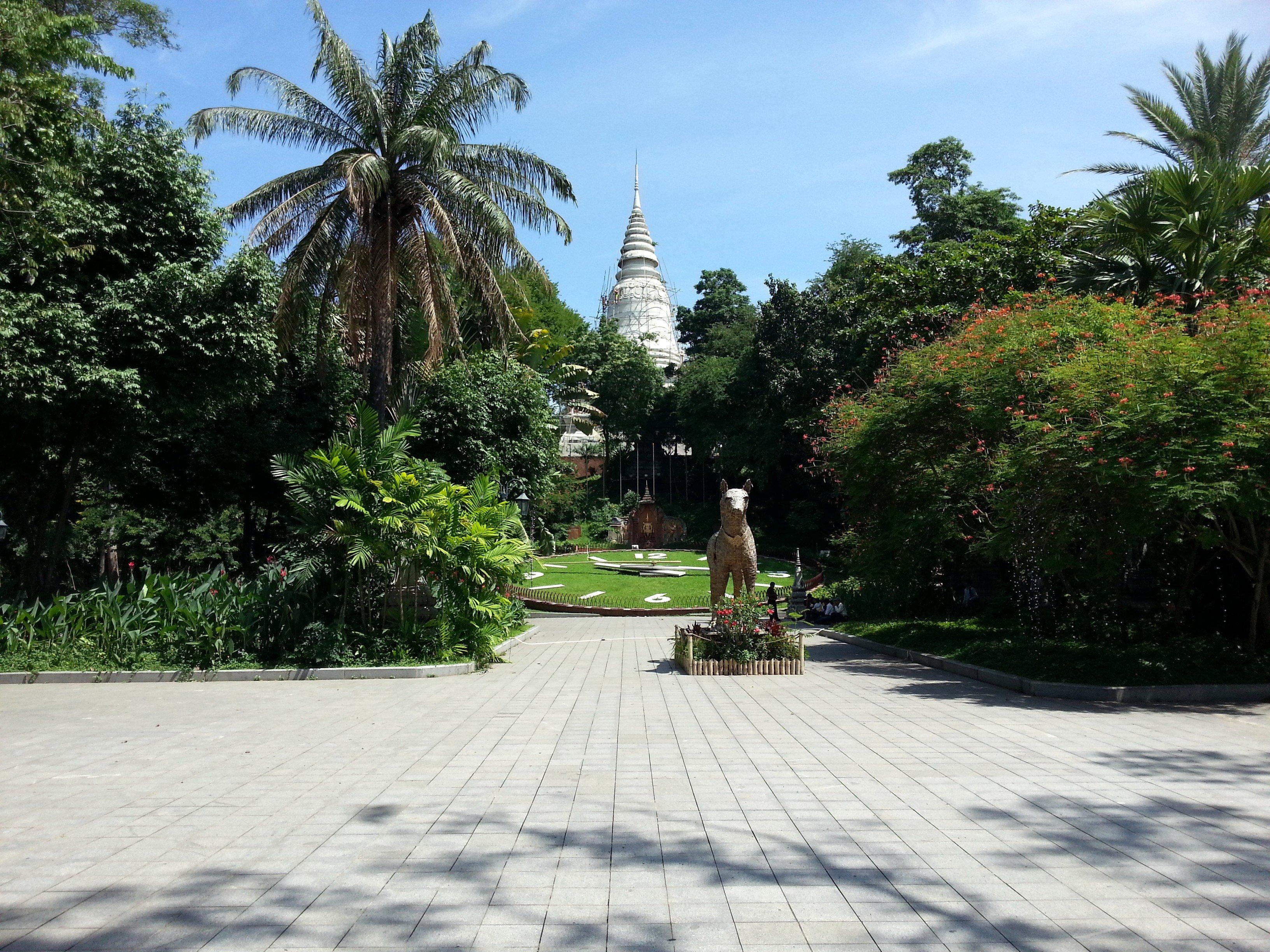 Park below Wat Phnom