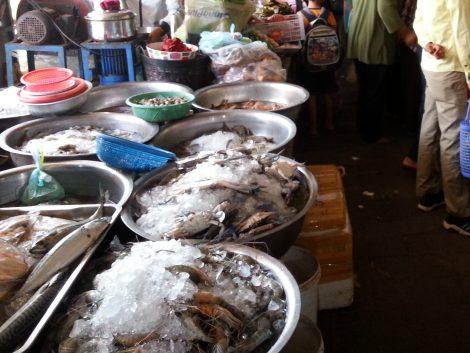 Seafood at Battambang Central Market
