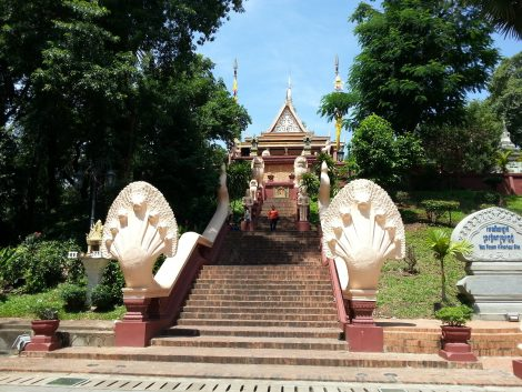 Stairs up to Wat Phnom