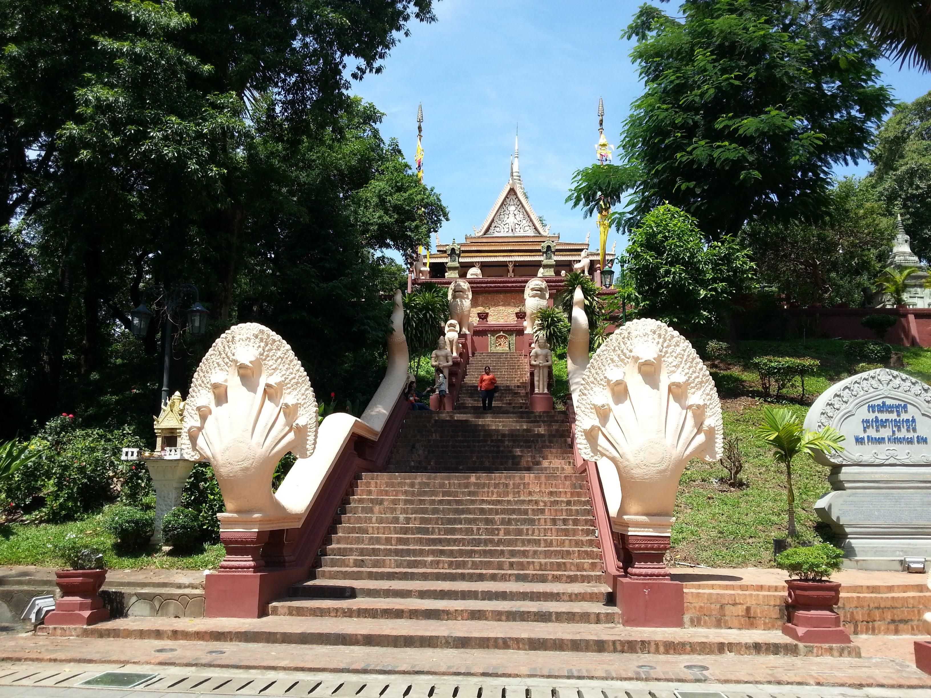 Stairs up to Wat Phnom