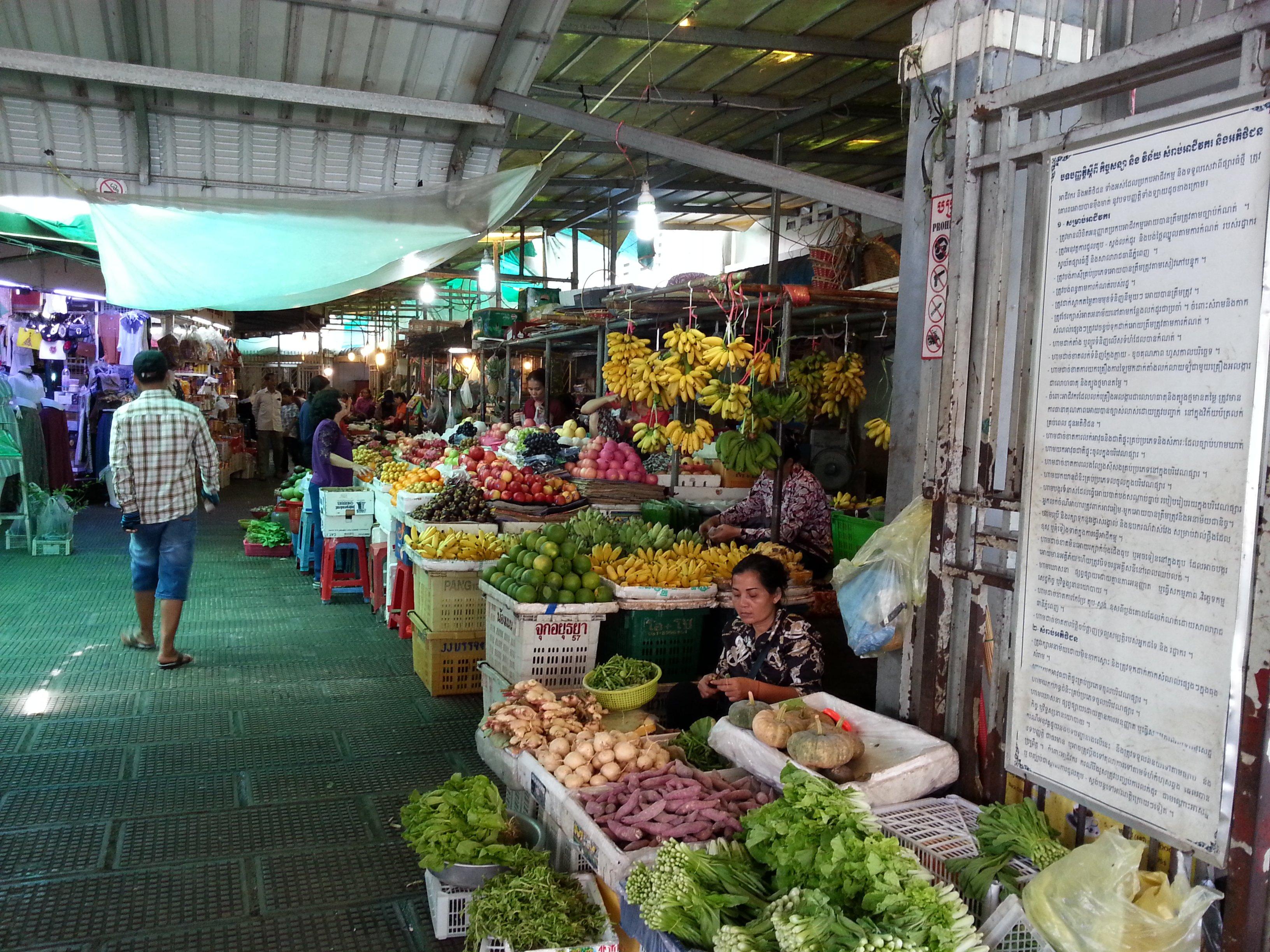 Vegetable seller in Central Market
