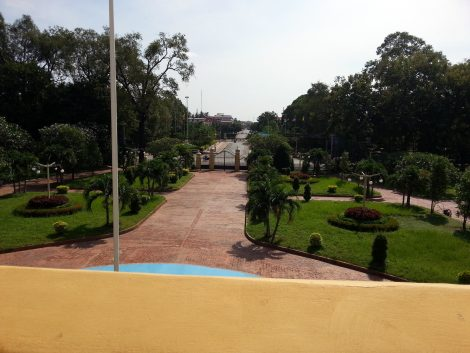 View from the balcony of the Governor's Residence