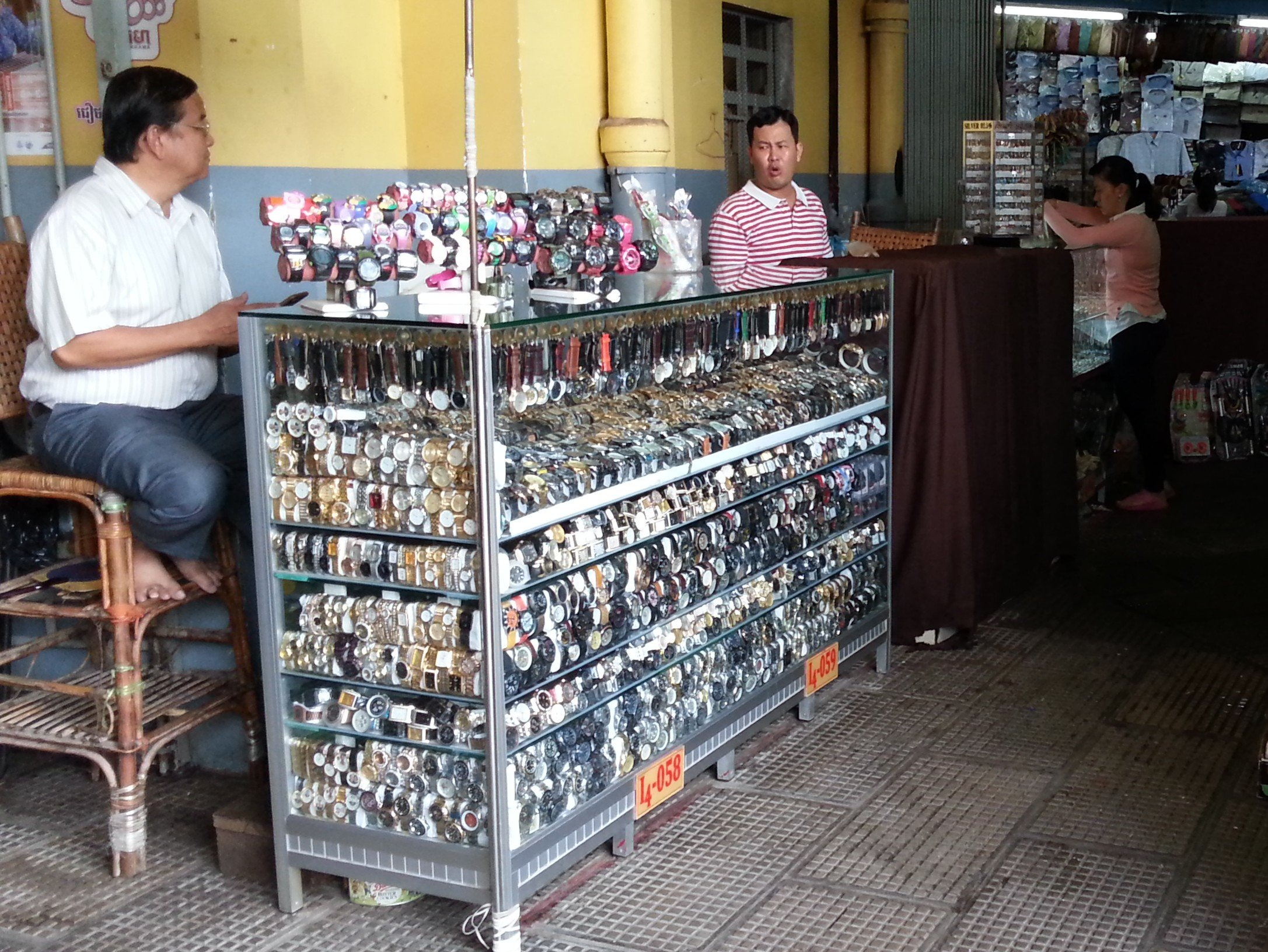 Watches on sale in Central Market