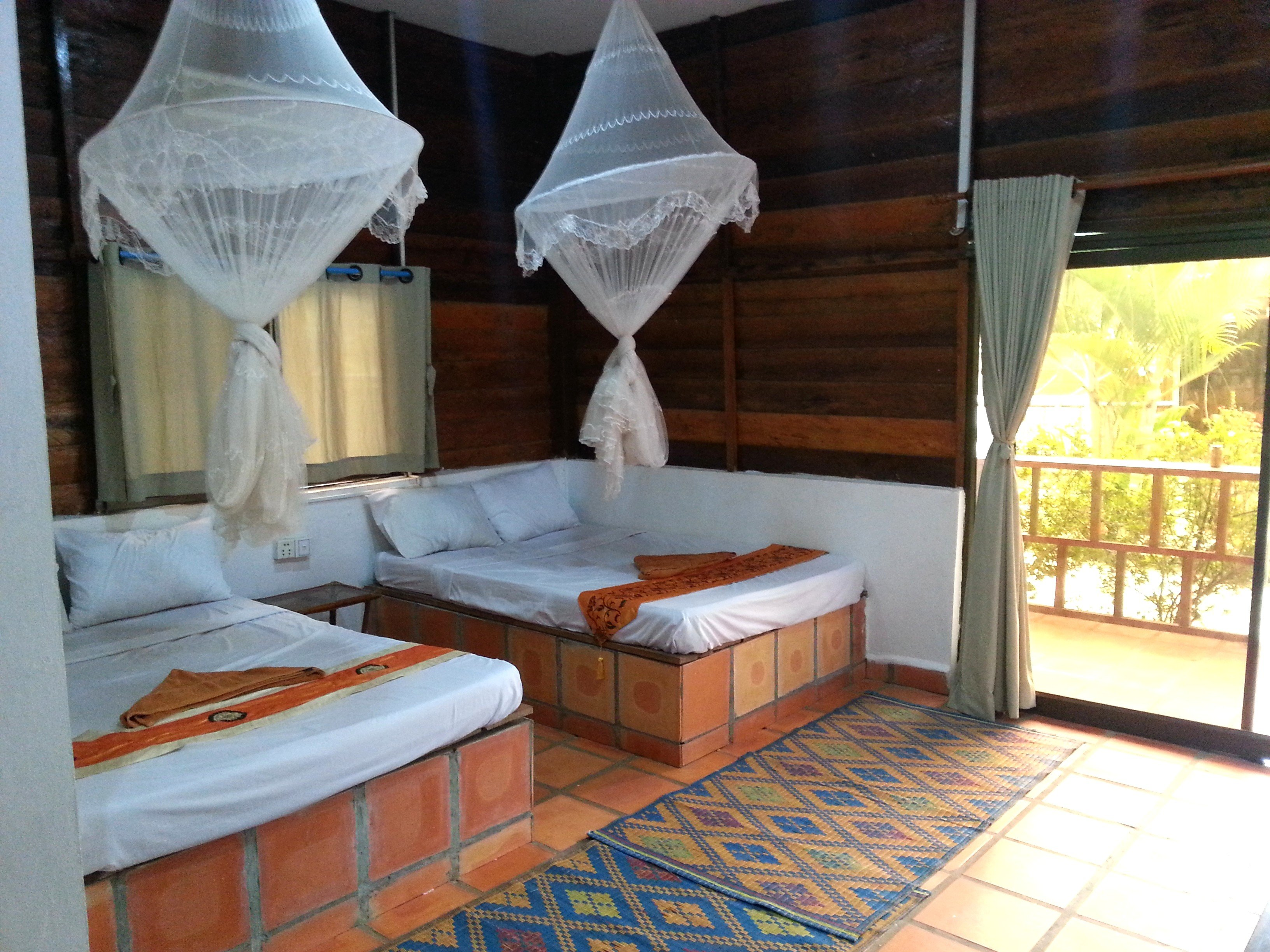 Beds at the Otres Lodge