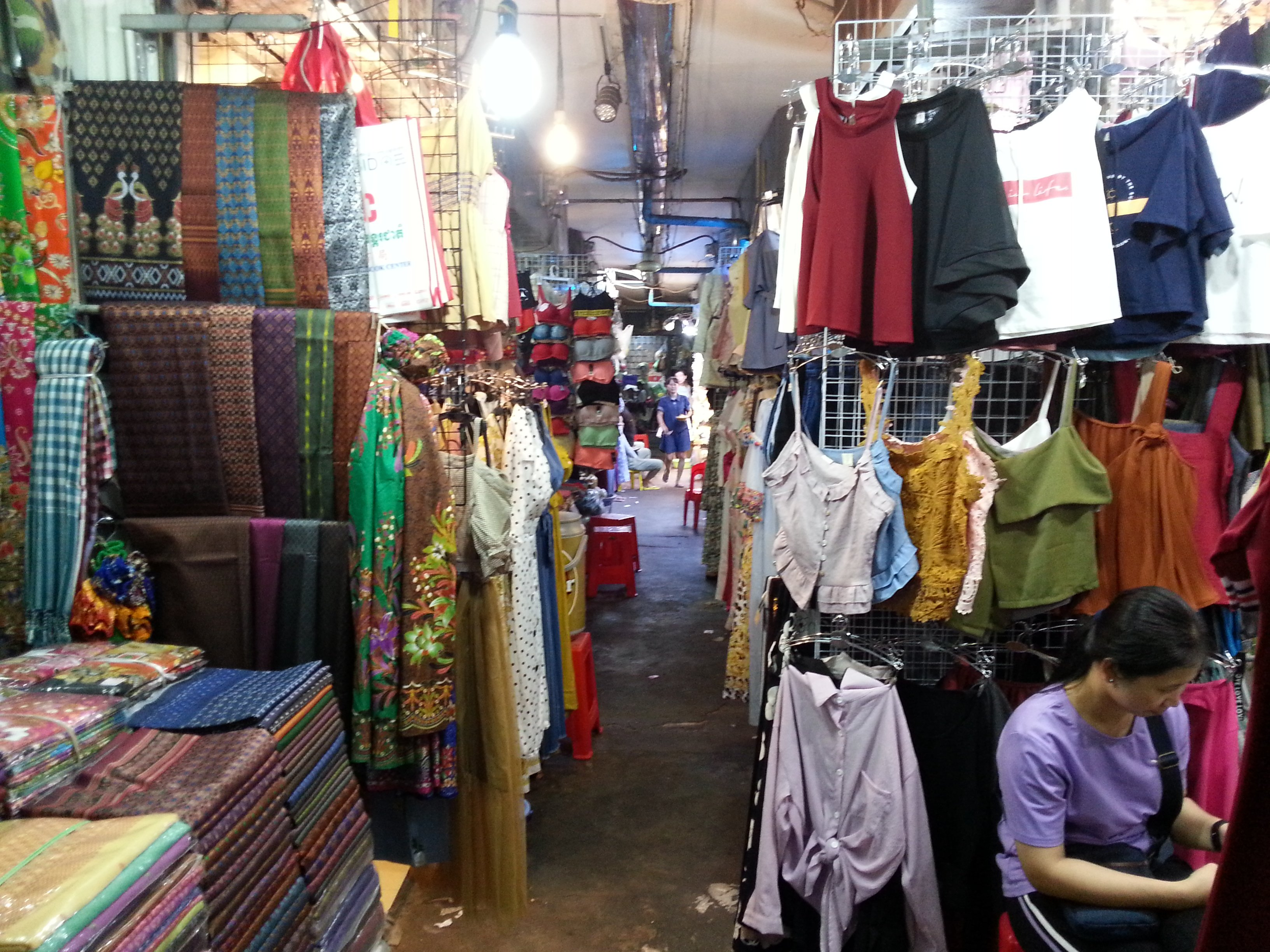 Clothes at Phnom Penh old Market