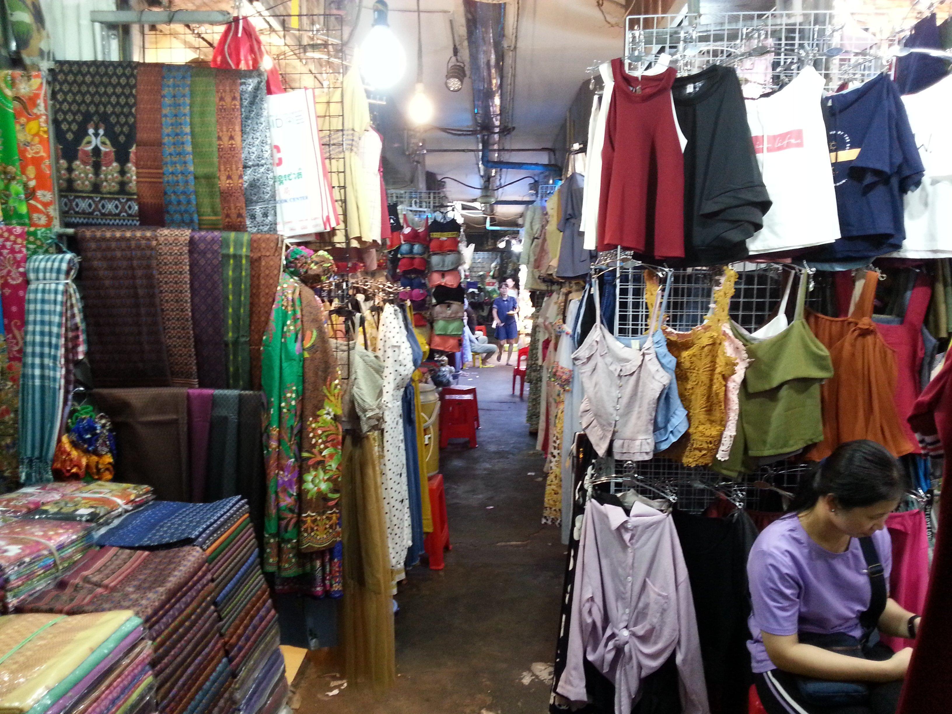Clothes at Phnom Penh old Market