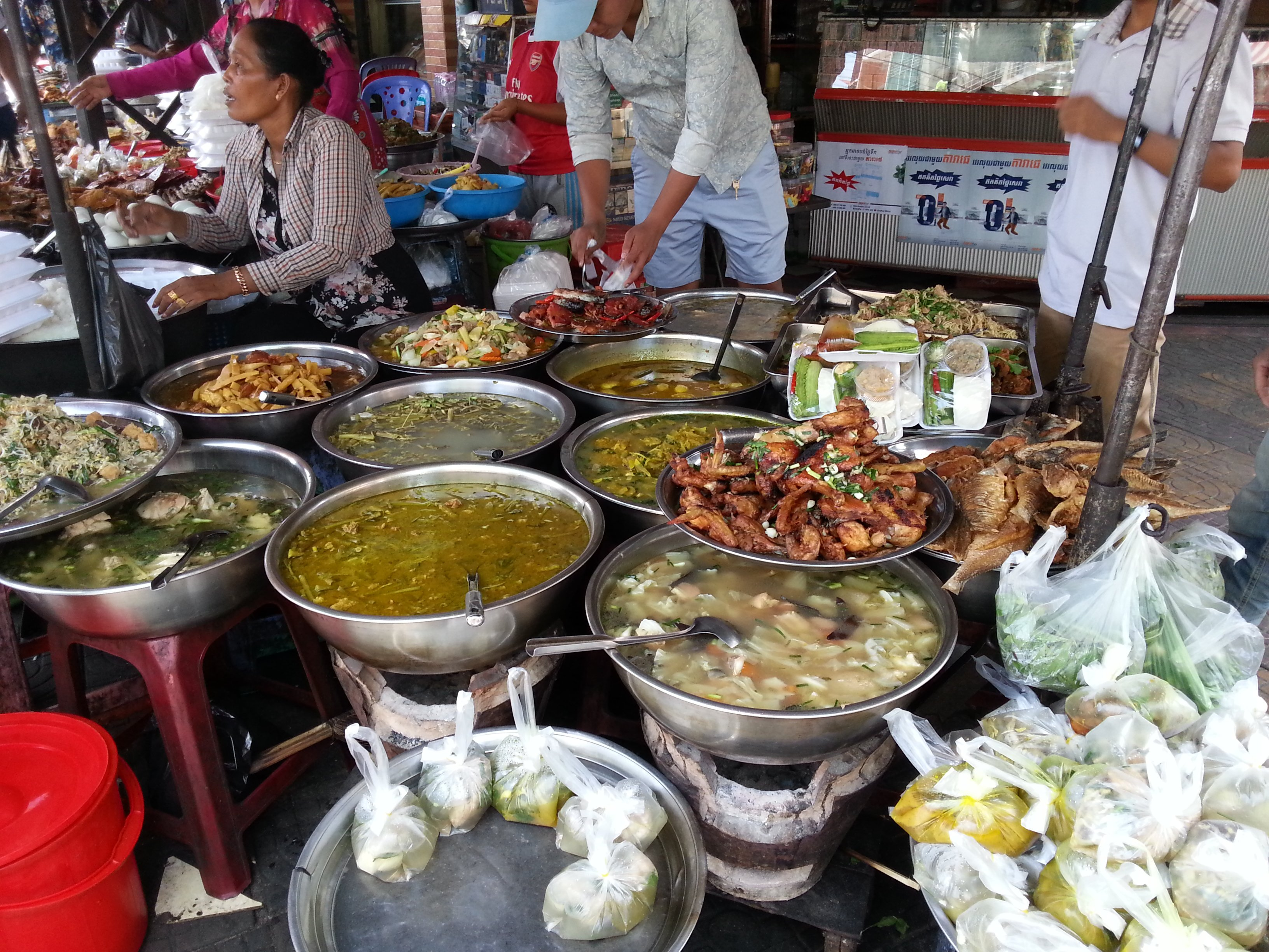 Food vendors on Street 13
