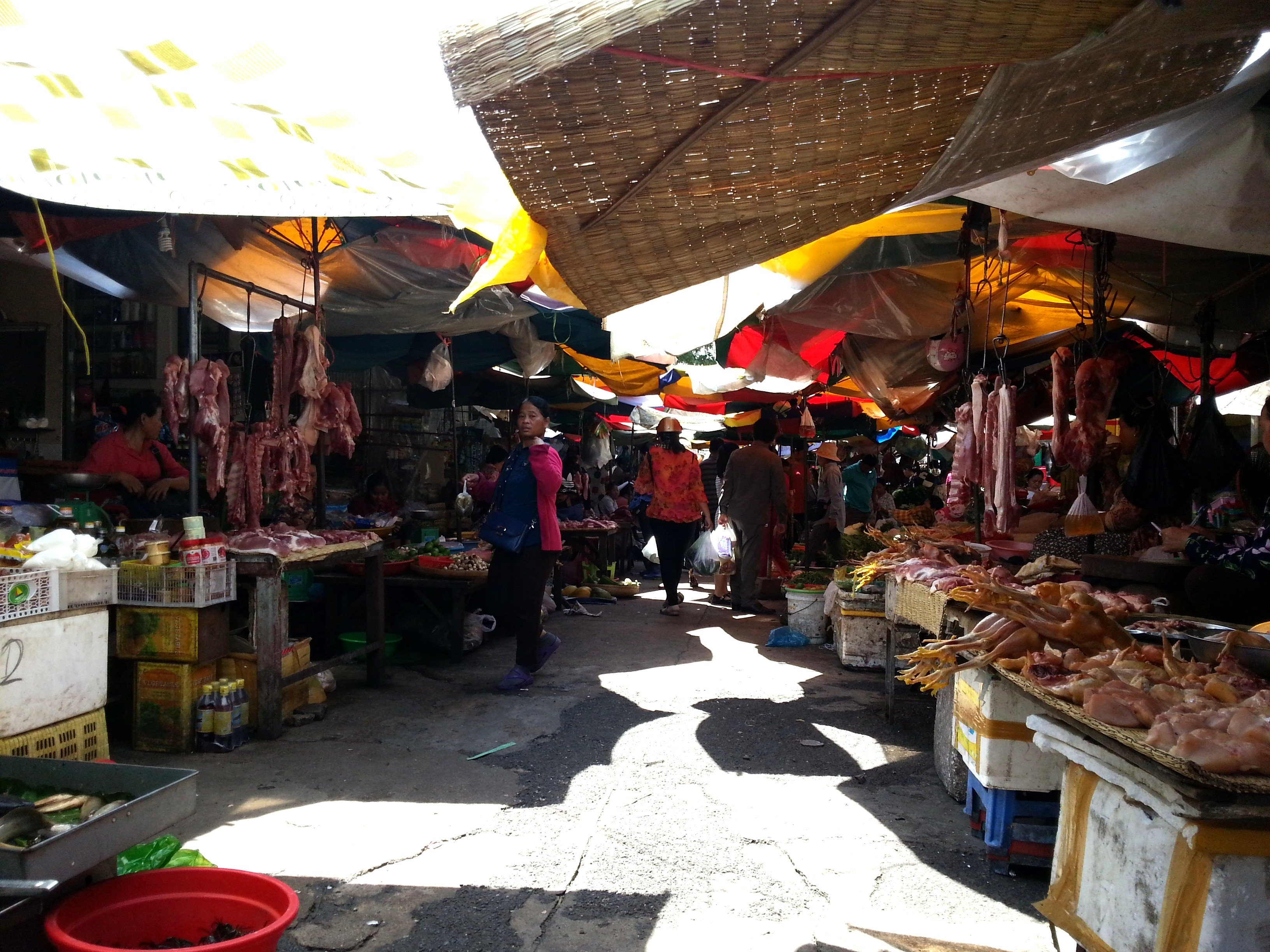 Meat section of Phnom Penh Old Market