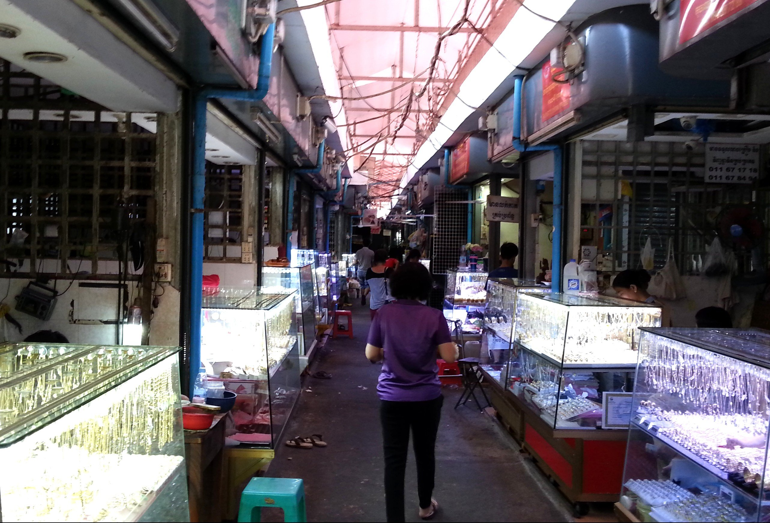 Silver and gold at Phnom Penh Old Market