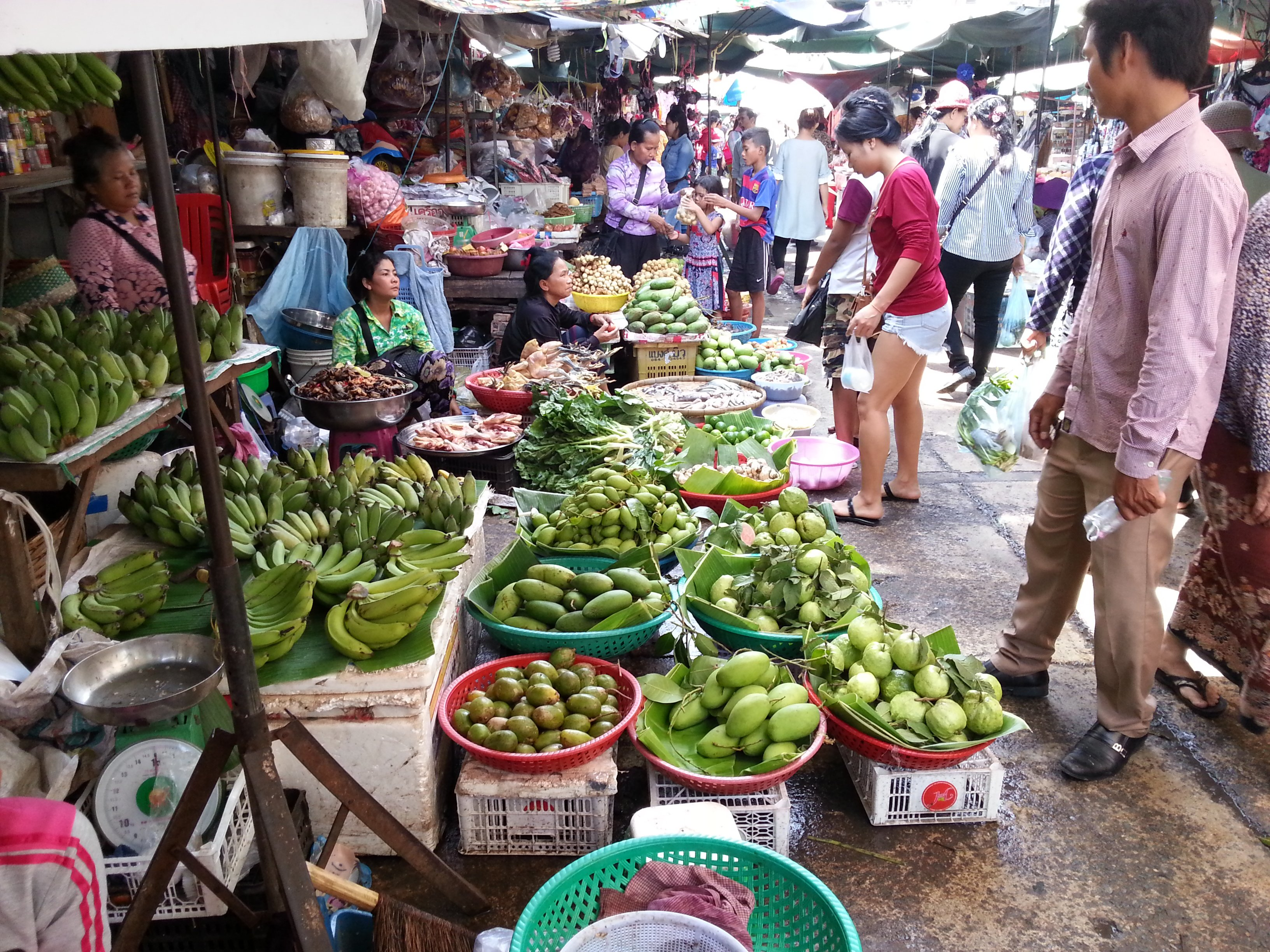 Vegetables at Phnom Penh Old Market