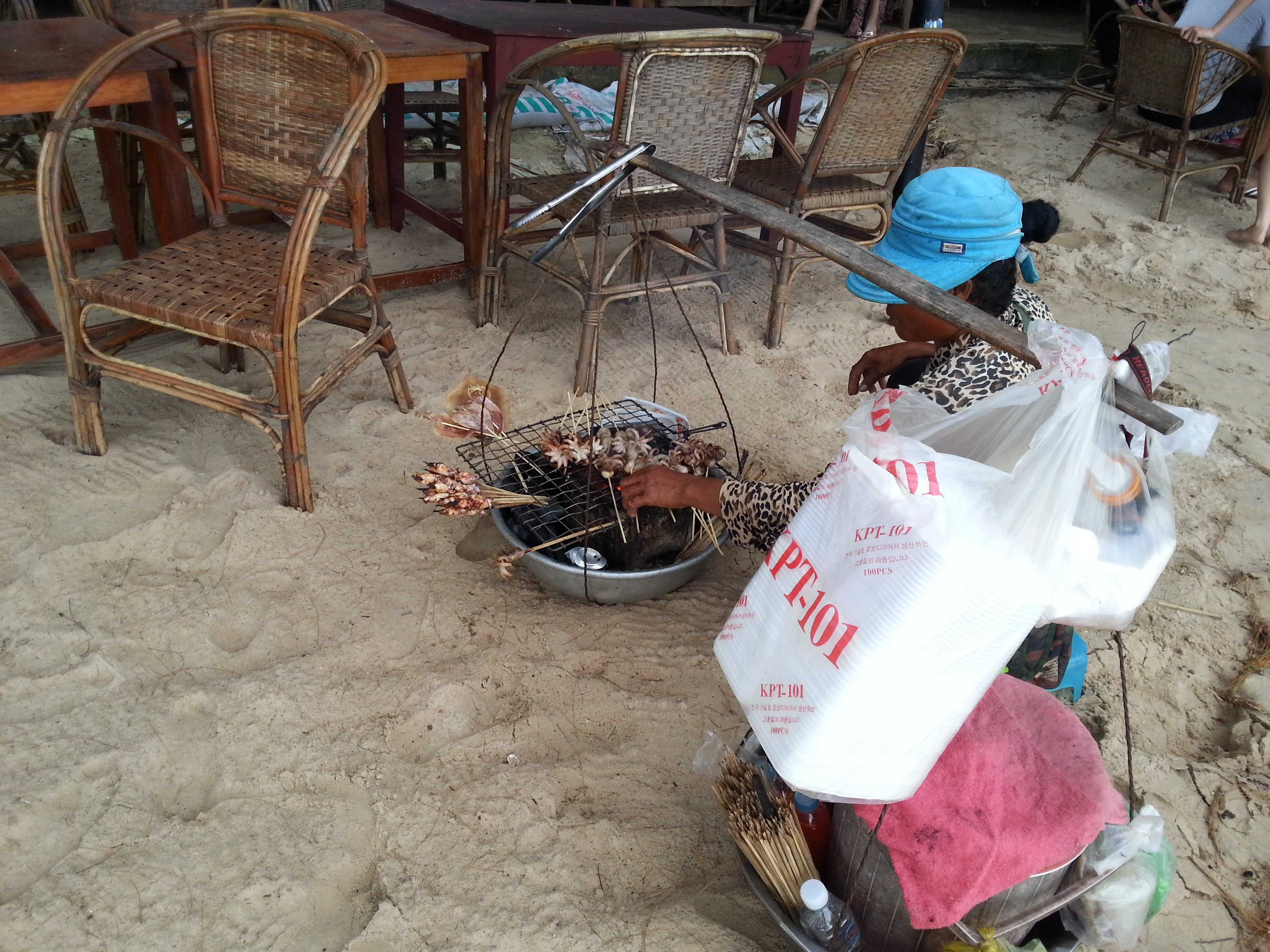 Vendor on Otres Beach