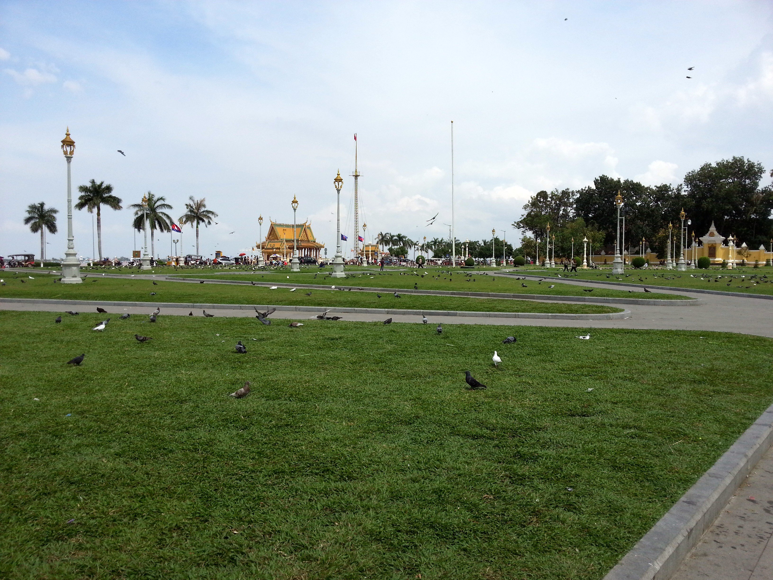 Royal Palace Park in Phnom Penh