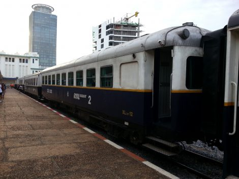 Cambodia train in Phnom Penh Station