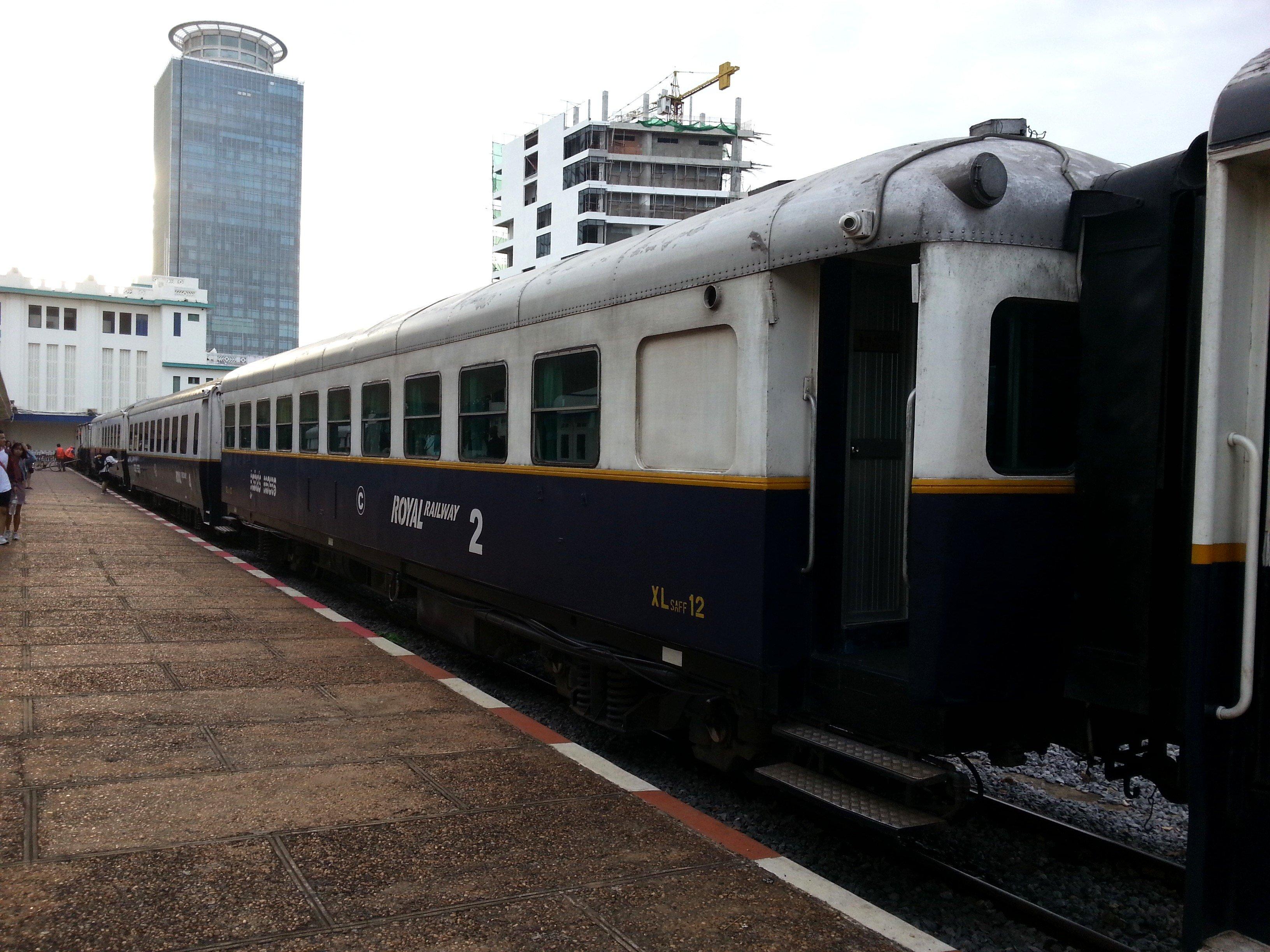 Cambodia train in Phnom Penh Station