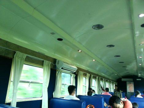 Inside a Cambodia train