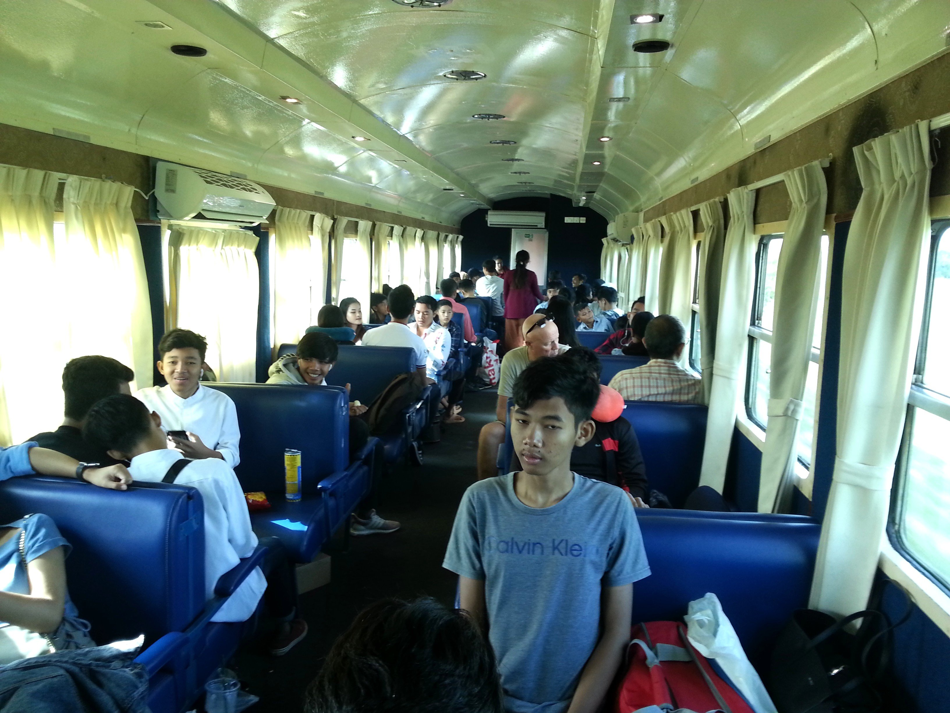 Standard carriage on a Cambodia train
