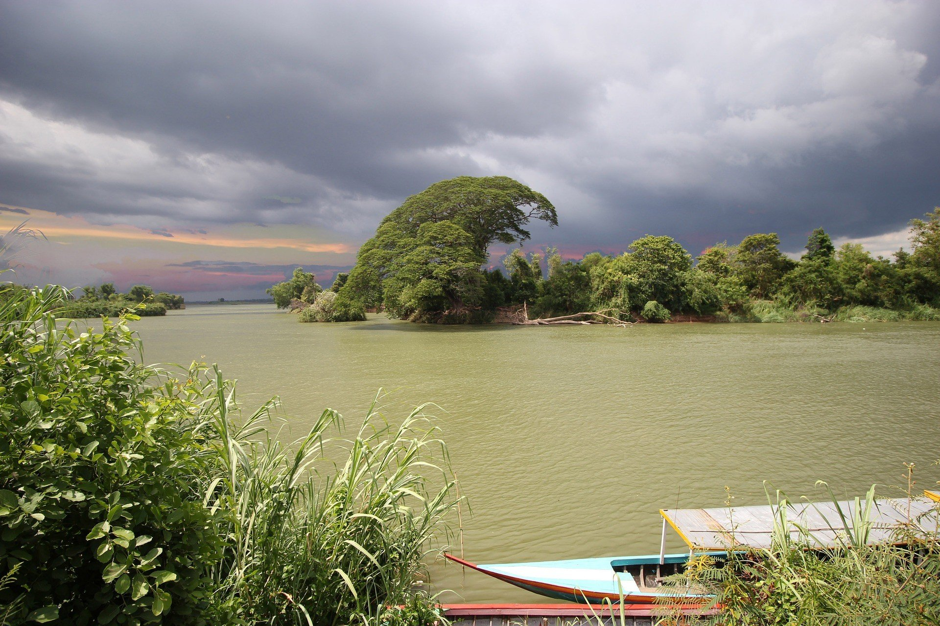 Riverside in Don Det, Laos
