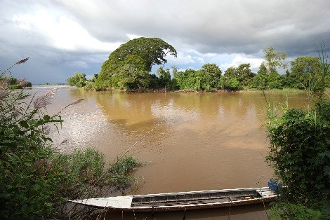 River view in Don Det, Laos