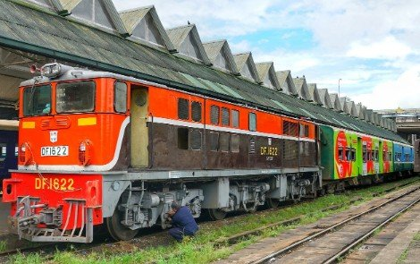 Train at Yangon Railway Station