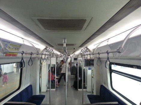 Inside a Malaysian train