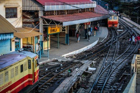Shimla Railway Station in India