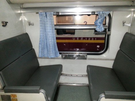 2nd Class Air Conditioned carriage on a Thailand Train