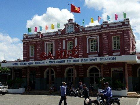 Hue Railway Station in Central Vietnam