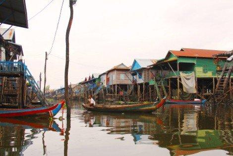 Kampong Phluk Floating Village near Siem Reap