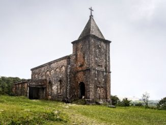 Old Catholic church at Bokor Hill Station