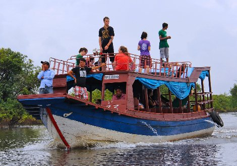 River boat in Cambodia