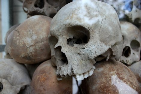 Choeung Ek near Phnom Penh is the best known of the infamous 'Killing Fields'