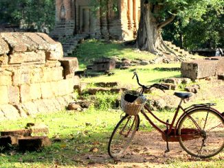 Bicycles are great for exploring the Angkor Archaeological Park